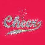 """Big Bling"" CHEER  Tee Pink  - LCT-110"