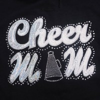 Big Bling Cheer Mom Hooded Sweatshirt