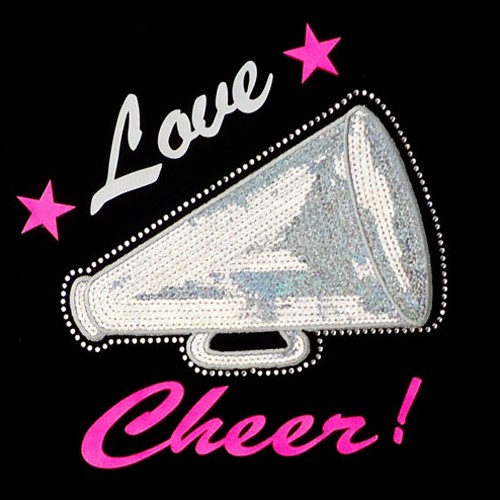Big Bling LOVE CHEER BULLHORN Hooded Sweatshirt - BBH-104