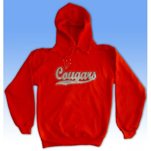 Big Bling COUGARS Hooded Sweatshirt