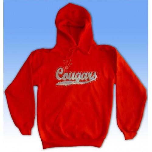 Big Bling COUGARS Hooded Sweatshirt