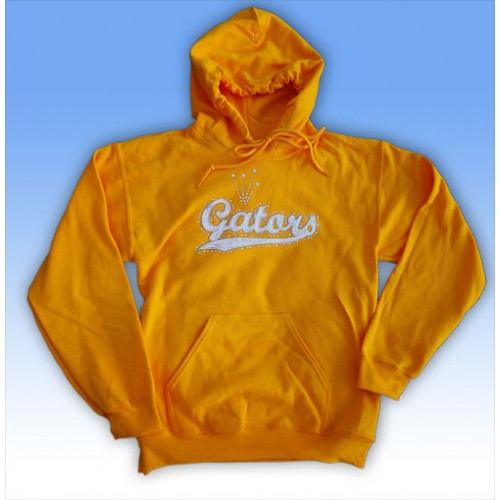 Big Bling  GATORS Hooded Sweatshirt GOLD