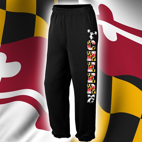 Maryland  Cheer Sweatpants - Black