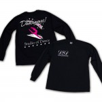 Dancemoves logo Long Sleeve Tee Black ( front and back print)
