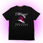 Dancemoves Logo t-shirt Black ( front print)