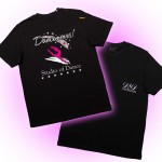 Dancemoves logo t-shirt Black ( front & back print)