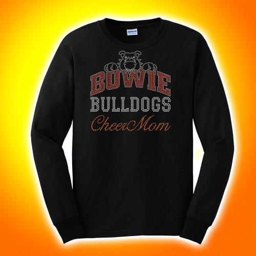 Bowie Bulldogs  Rhinestone LONG SLEEVE T-Shirt