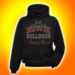 Bowie Bulldogs Cheer Mom Rhinestone Hooded Sweatshirt