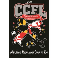 CCFL 2016 Black Cheer & Pom Competition t-shirt with Custom Lettering on Back