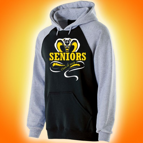 Harford Tech Class of 2018 black and gray premium fleece with full front