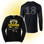 Harford Tech Class of 2018 long sleeve Black tee with class names