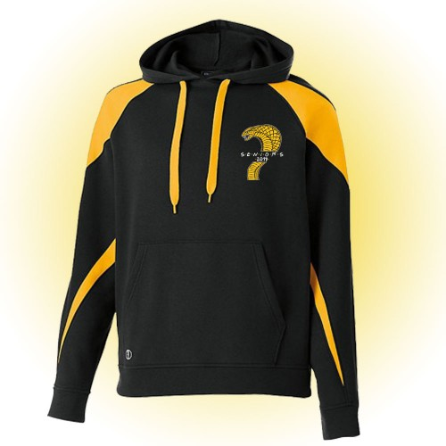 Harford Tech Class of 2019 Premium black and gold fleece with left chest logo