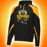Harford Tech Class of 2018 premium black and gold fleece