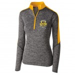Harford Tech Class of 2018 Ladies Heather gray and gold quarter zip pullover