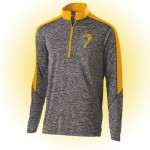 Harford Tech Class of 2019 Mens polyester carbon gray/Gold 1/4 zip training pullover