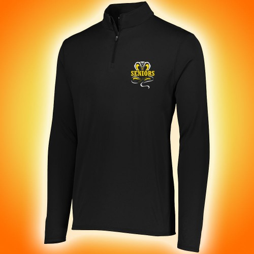 Harford Tech Class of 2018 MENS black quarter zip pullover