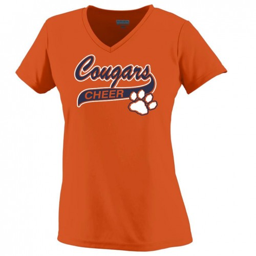 Cougars Ladies Performance V-neck Orange