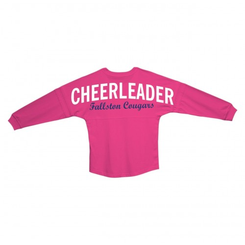 Cougars Billboard Pink Long Sleeve Tee