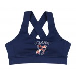 Cougars Criss Cross Sports Bra Navy