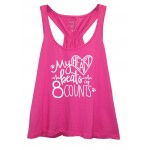Cougars Scrunchie Tank ( Hot Pink) FRONT PRINT