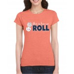 "* Cougar's "" This is how we Roll"" Ladies fitted Crew neck"