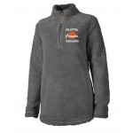Fallston Cougars Ladies Charcoal Sherpa embroidered pullover