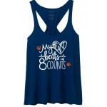 Cougars Scrunchie Tank Navy