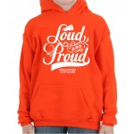 Cougars Loud and Proud Hooded Sweatshirt Orange