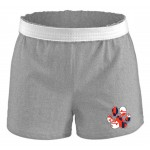 Soffe Gray Cheer short with Marland print paw