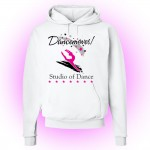 Dancemoves White Hooded logo Sweatshirt