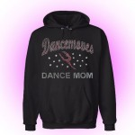 Dancemoves DANCE MOM Custom Rhinestone Hooded Sweatshirt Black-Design 2