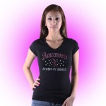 Dancemoves Custom Rhinestone Black V-Neck tee Design 1