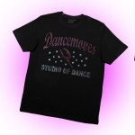 Dancemoves Custom Rhinestone Design 1 Black t-shirt