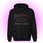 Dancemoves Custom Rhinestone Hooded Sweatshirt Black-Design 1