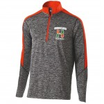 Hurricanes Football Mens 1/4 zip with embroidered logo