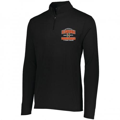 Elkridge Football Anniversary Mens Black 1/4 zip training pullover