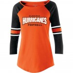 Elkridge Huricanes 3/4 sleeve Loyalty fan shirt  with shimmer sleeves