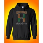 Elkridge Hurricanes Rhinestone FOOTBALL Hooded Sweatshirt
