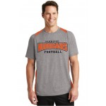 Elkridge two tone performance tee carbon gray and orange ( Youth and Adult)