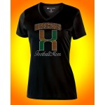 Elkridge Hurricanes FOOTBALL  Rhinestone V-neck T-shirt