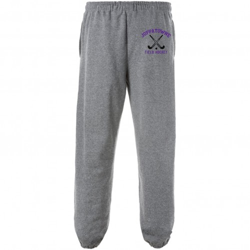 Joppatowne Field Hockey pocketed sweatpant (Gray) OPEN OR CLOSED ANKLE