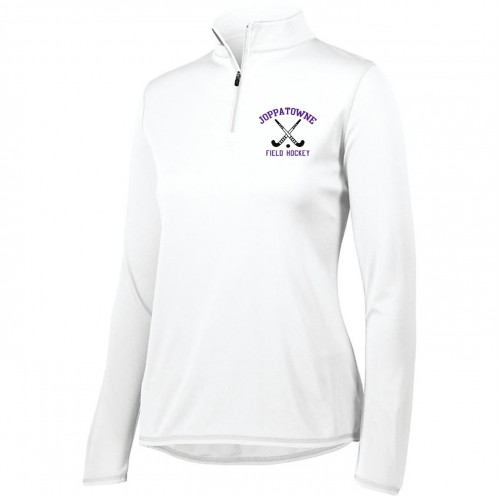Joppatowne  Field Hockey White quarter zip pullover