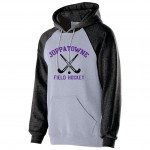 Joppatowne Field Hockey black and gray premium fleece with left chest logo