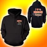 """ I Love My Hurricane Cheerleader ""Hooded Sweatshirt"