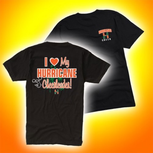 """ I love my Hurricane Cheerleader"" Tee"
