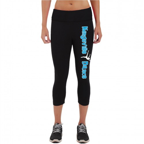 Kingsville Dance Practice capri black/ Blue