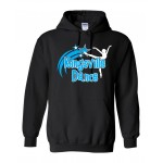 Kingsville Dance hooded sweatshirt black/blue
