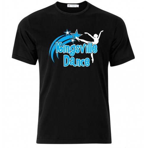 Kingsville Dance logo black/blue tee