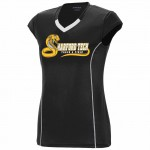 Harford Tech Track & Field 100% polyester black/white performance v-neck