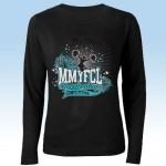 MMYFCL Cheer & Pom long sleeve t-shirt  2 black and teal ( team names on back)